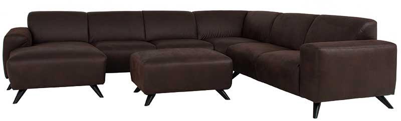 Hoekbank Met Loungedeel.Pompei Hoekbank Lounge Lc 2 5 C 2 5 Stof Texas 108 Wood